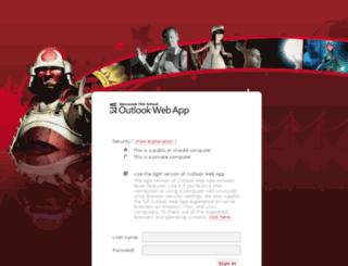 email.vfs.com screenshot