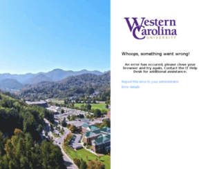 email.wcu.edu screenshot