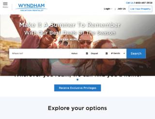 email.wyndhamvacationrentals.com screenshot