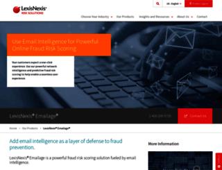 emailage.com screenshot