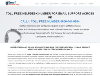 emailcustomerhelp.co.uk screenshot