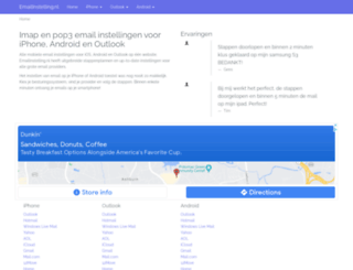 emailinstelling.nl screenshot