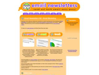 emailnewsletters.net.nz screenshot
