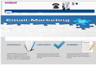 emailpond.com screenshot