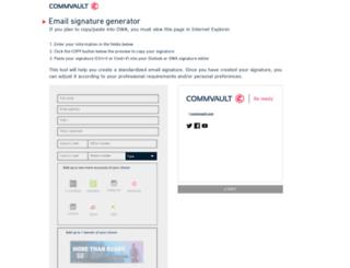 emailsignature.commvault.com screenshot