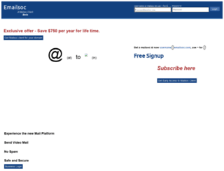 emailsoc.com screenshot