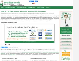 emailtester.de screenshot