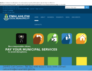 emalahleni.gov.za screenshot