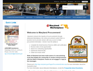 emarylandmarketplace.com screenshot
