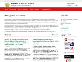 embaixadadeportugal.org.br screenshot