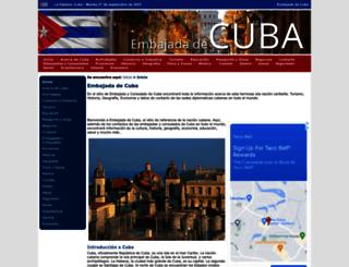 embajadadecuba.org screenshot