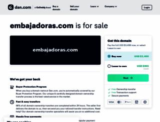embajadoras.com screenshot