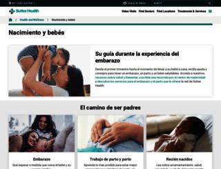 embarazo.sutterhealth.org screenshot
