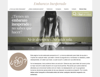 embarazoinesperado.com screenshot