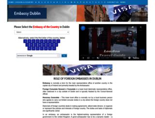 embassydublin.com screenshot