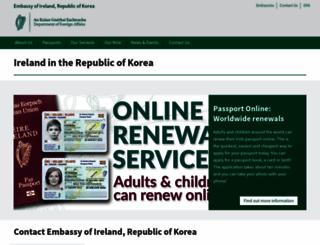 embassyofireland.or.kr screenshot