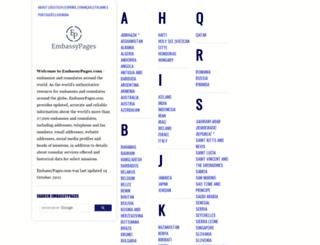 embassypages.com screenshot
