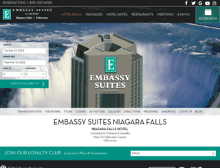 embassysuitesniagara.com screenshot