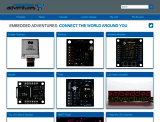 embeddedadventures.com screenshot