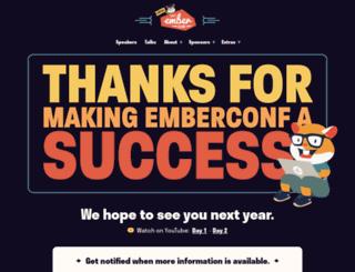 emberconf.com screenshot