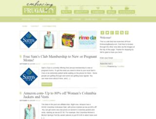 embracingfrugality.net screenshot