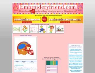 embroideryfriend.com screenshot