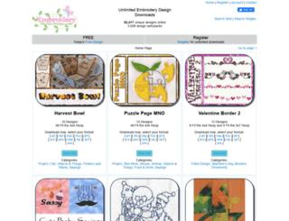 embroiderymachinedesigns.com screenshot