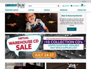 embroideryonline.com screenshot