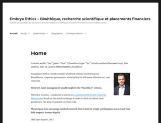 embryo-ethics.com screenshot