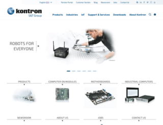 emea.kontron.com screenshot