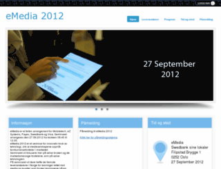 emediaweb.no screenshot