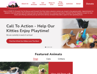 emeraldcitypetrescue.org screenshot