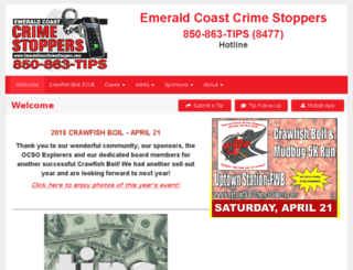 emeraldcoastcrimestoppers.com screenshot