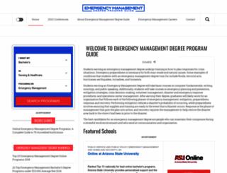 emergency-management-degree.org screenshot