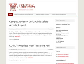 emergency.cofc.edu screenshot