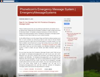 emergencymessagesystem.blogspot.com screenshot