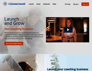emerging.coachesconsole.com screenshot