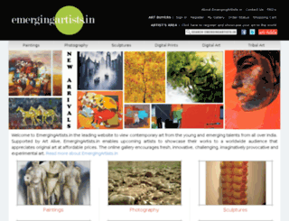 emergingartists.in screenshot