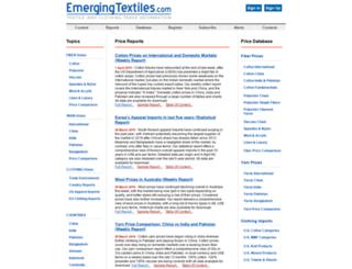 emergingtextiles.com screenshot