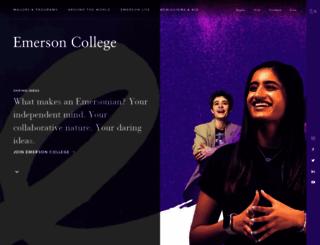 emerson.edu screenshot
