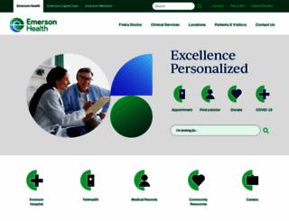 emersonhospital.org screenshot