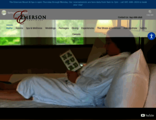 emersonresort.com screenshot