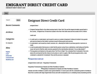 emigrantdirectcreditcardcds.wordpress.com screenshot