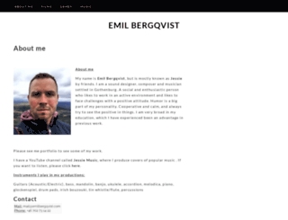 emilbergqvist.com screenshot