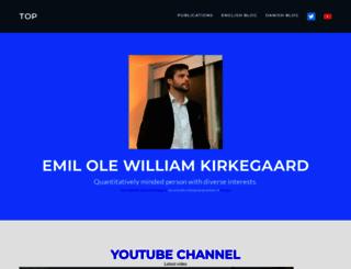 emilkirkegaard.dk screenshot