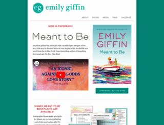 emilygiffin.com screenshot