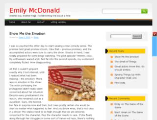 emilymcd.com screenshot