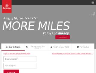 emirates.travel screenshot
