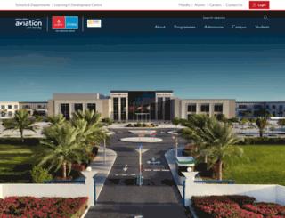 emiratesaviationcollege.com screenshot