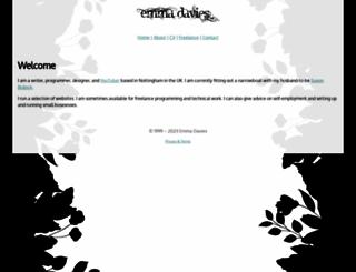 emmadavies.net screenshot